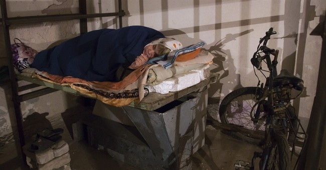 Underground misery at dank Ukraine bomb shelter