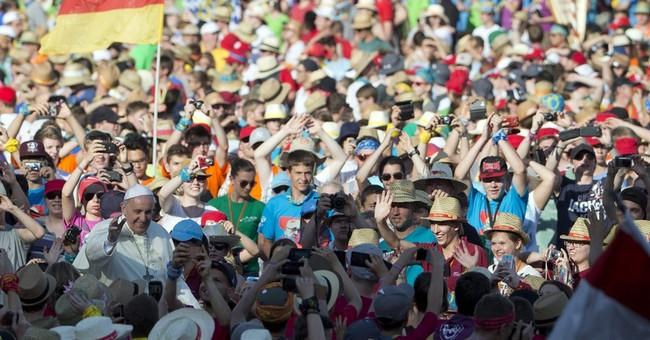 Pope speaks in German to 50,000 Catholic kids