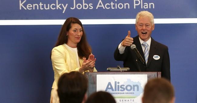 Bill Clinton rallies Kentucky Senate race voters