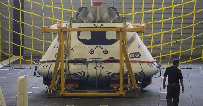 US Navy practices retrieving Orion spacecraft