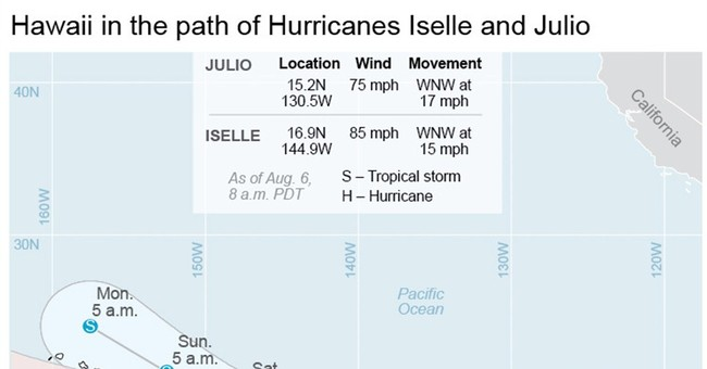 Hurricane Iselle gains strength as it nears Hawaii