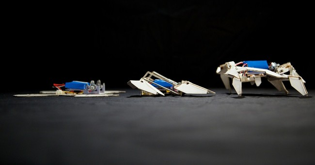 Scientists make cheap, fast self-assembling robots
