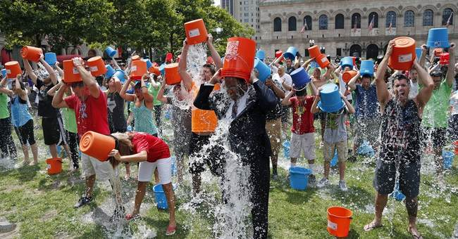 Soaked for charity: Ice bucket challenges get cool