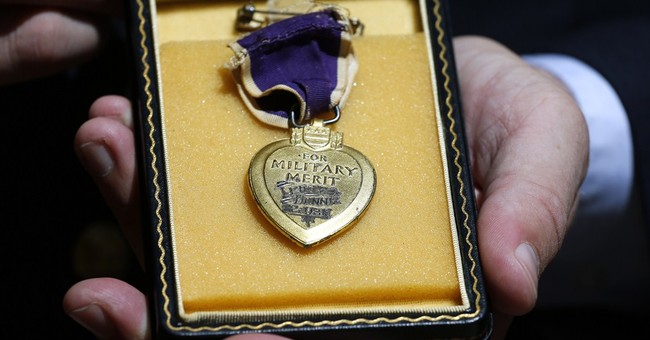 A veteran's Purple Hearts mission began with gift