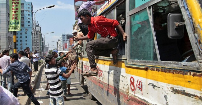 Image of Asia: Escaping a protest in Bangladesh
