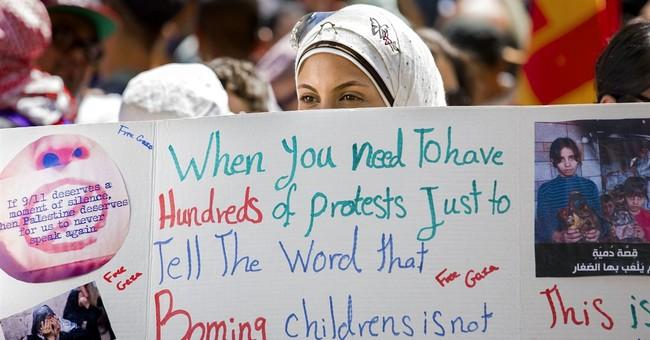 Pro-Palestinian activists march to UN headquarters