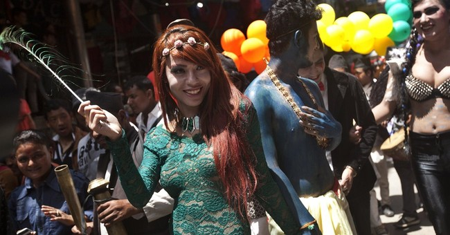 Nepal gay community parades for same-sex marriage