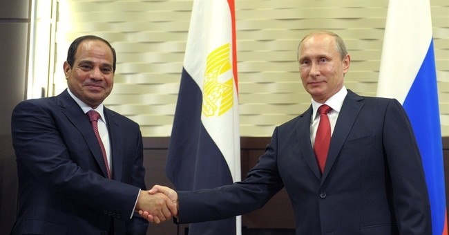Egypt's leader in Russia for talks on arms, trade