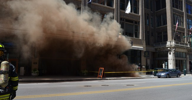 Underground blasts rock downtown Indianapolis