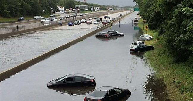 New York suburbs get entire summer's worth of rain
