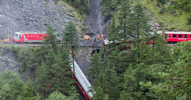 11 injured as train cars derail in Swiss Alps
