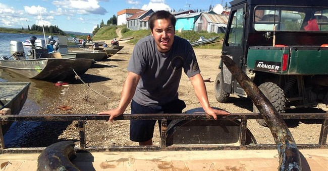 Mom, son find wooly mammoth tusks 22 years apart