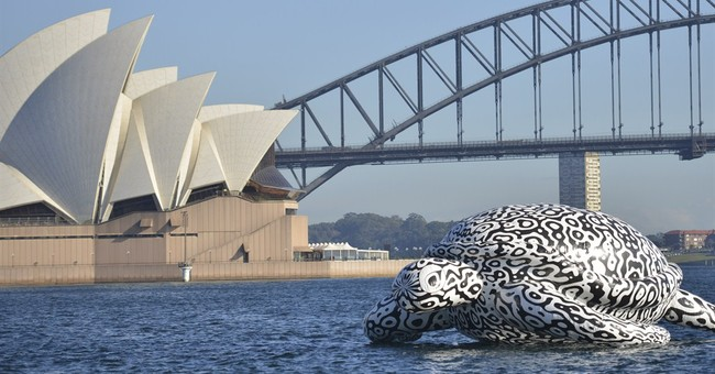 Image of Asia: Floating in Sydney Harbour