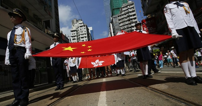 Tens of thousands stage Hong Kong pro-gov't rally