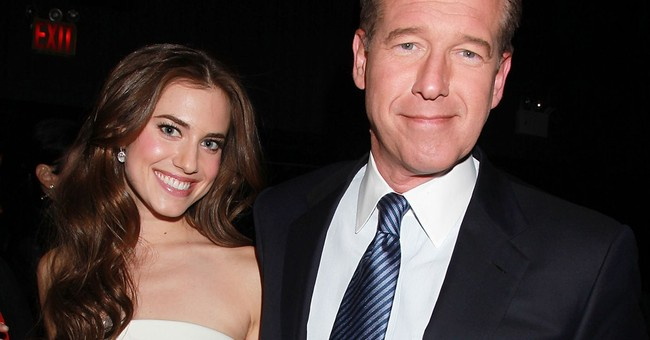 Brian Williams shares in daughter's acting success