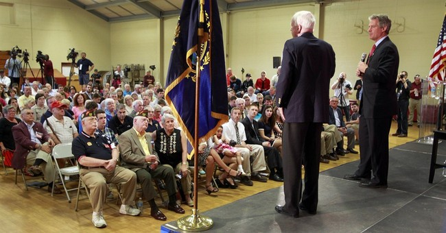 McCain campaigns in New Hampshire for Scott Brown
