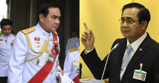 Thailand's military ruler dons a suit and tie