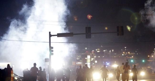 How can authorities restore order in Ferguson?