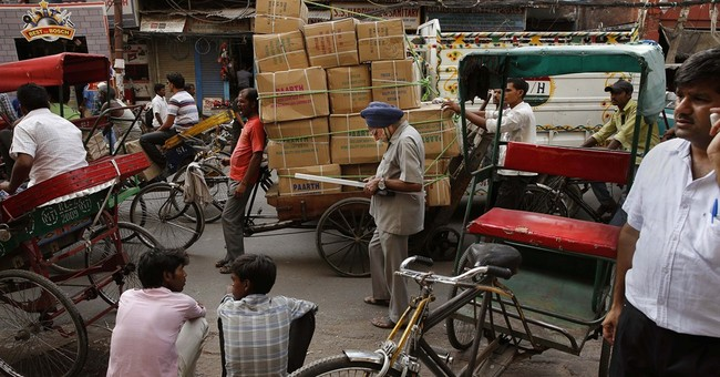 Image of Asia: On the street in Old Delhi