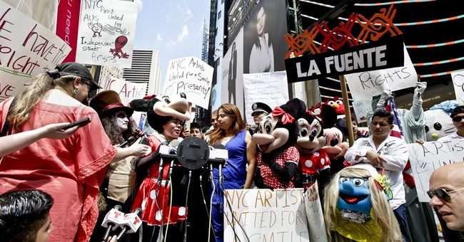 Times Square characters upset at 'hostile' police