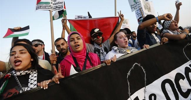 Palestinian banner unfurled on NYC bridge