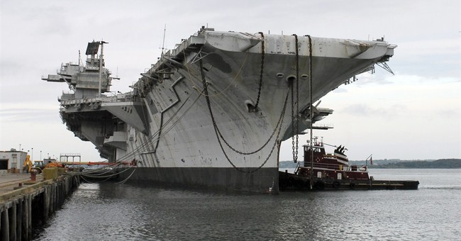 USS Saratoga carrier heads off to be scrapped