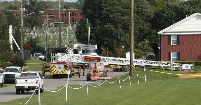 Firefighters still in hospital after ice stunt