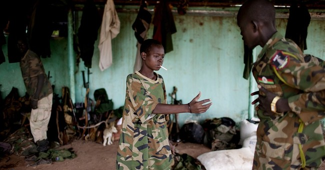 Children used as child soldiers in South Sudan