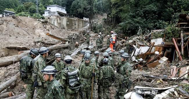 Rains raise search risk after Japan landslides