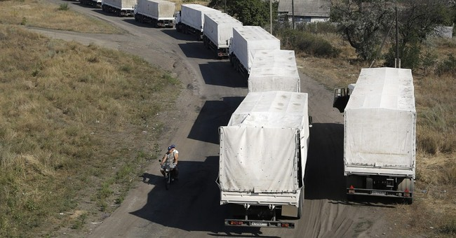 Russian aid trucks leave; highlight dire needs