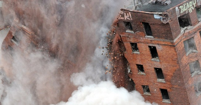 11-story Albany hotel demolished amid fireworks