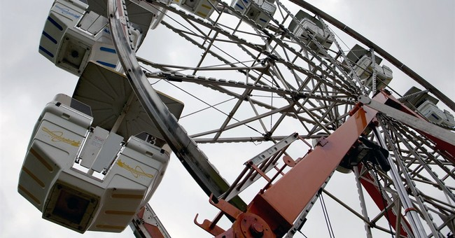 Crutches might have caused Ferris wheel cab to tip