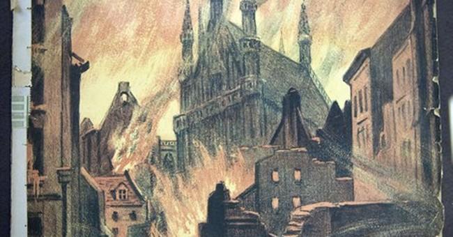 History in flames: Belgium recalls Leuven's ruins