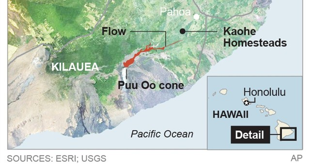 A look at Hawaii volcano sending lava toward homes