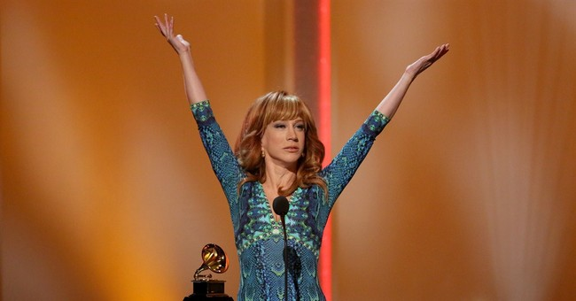 BIEBER'S A PUNCH LINE FOR KATHY GRIFFIN AT GRAMMYS
