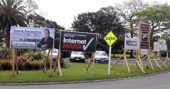 New Zealand's election-day gag: no public politics