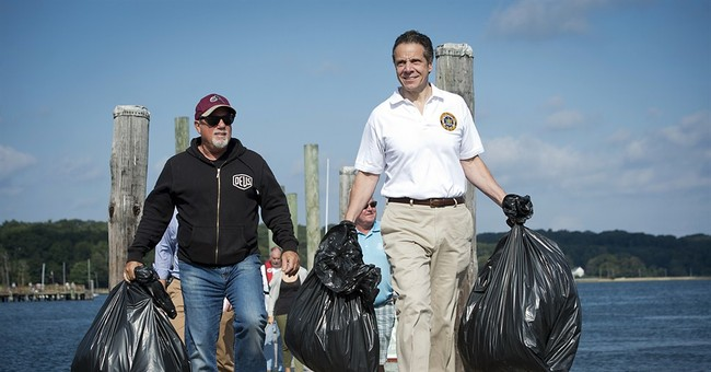 NY governor, Billy Joel join NY beach cleanup
