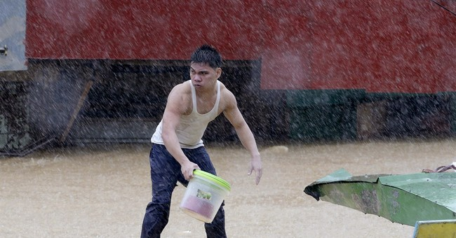Philippine storm moves north, leaves 5 dead