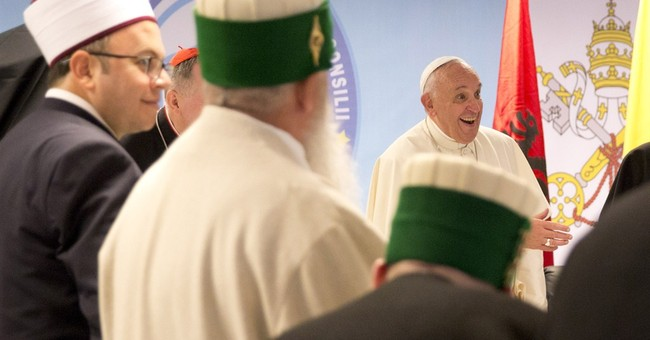 Pope in Albania urges Muslims to condemn extremism