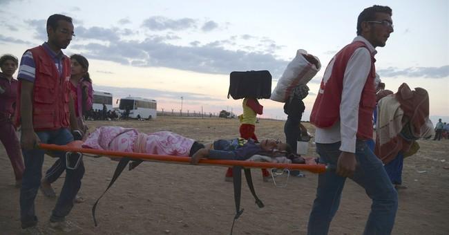 Syria refugee flood to Turkey hits 100,000