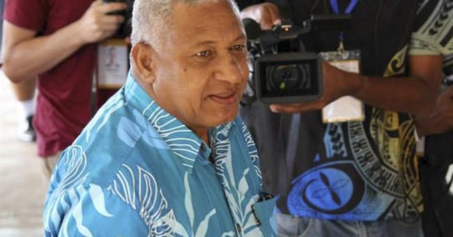 Fiji's military ruler sworn in as elected leader