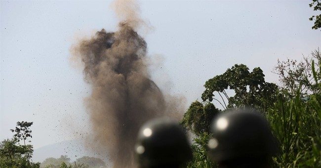 AP Photos: Dynamite doesn't stop Peru narcos