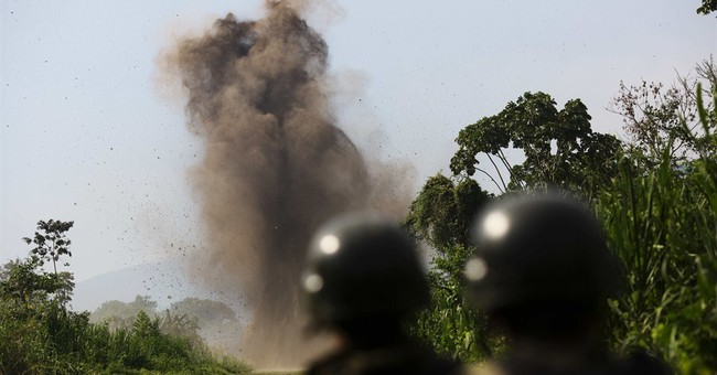 AP Photos: Dynamite doesn't stop Peru narcos