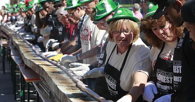 Illinois city marks birthday with mega bratwurst