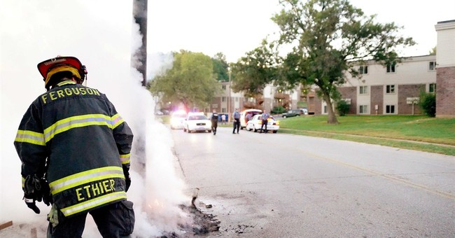 Fire destroys Michael Brown memorial in Ferguson