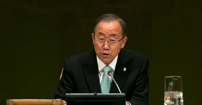 UN chief welcomes airstrikes in Syria