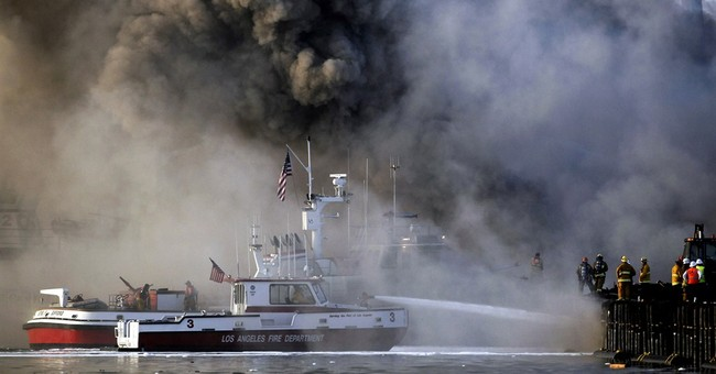 Ports mostly reopen after Los Angeles-area fire