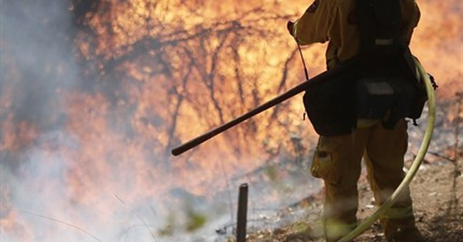 Huge California fire mostly spares infrastructure