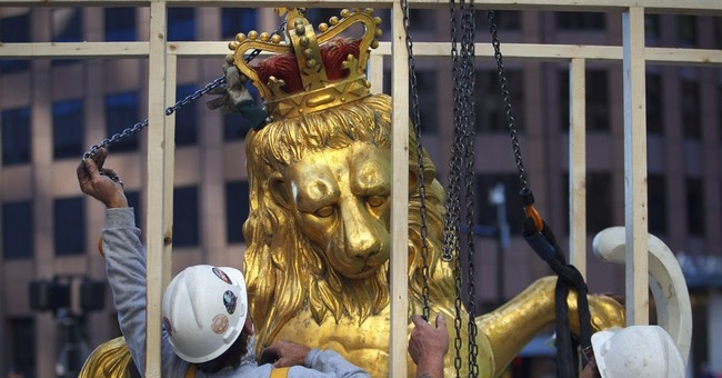 Boston time capsule believed found in lion statue
