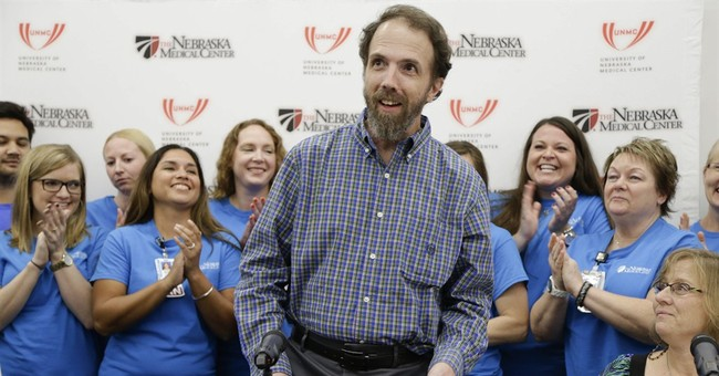 US Ebola patient released; says he feels great